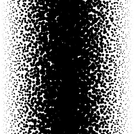 Zufällige Halbton, Pointillismus Muster - Unregelmäßige Punkte abstrakte monochrome Raster Vektorgrafik