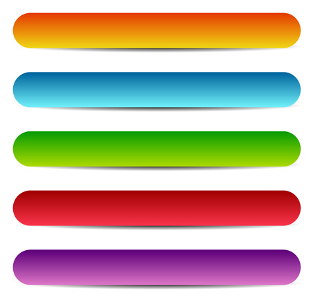 Rectangle banners  buttons  labels in several color