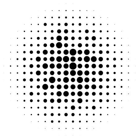 screen printing: Halftone circles, halftone dots pattern. Monochrome half-tone