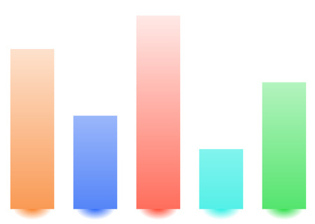 Bar chart  bar graph with random levels for analysis, visualization concepts