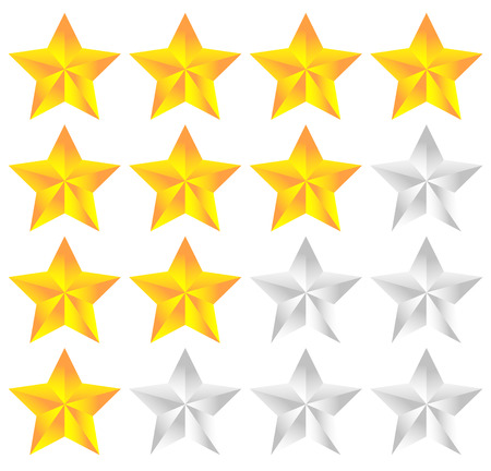 good judgment: Star icon for rating, ranking, quality concepts Illustration