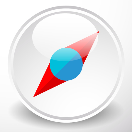 navigator: Simple compass dial icon with pointer and highlight