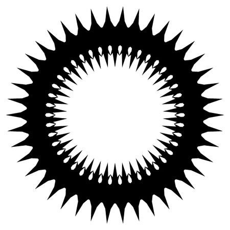 Simple geometric circle element isolated on white
