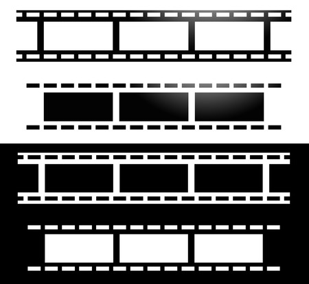 perforation tape: Straight film strips. Photography, media concept icon