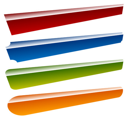 Banners, buttons (4 shape and 4 color)