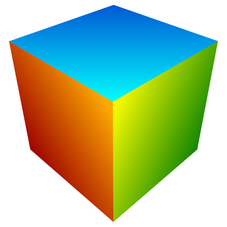 generic: Colorful cube icon. Modern, bright generic icon