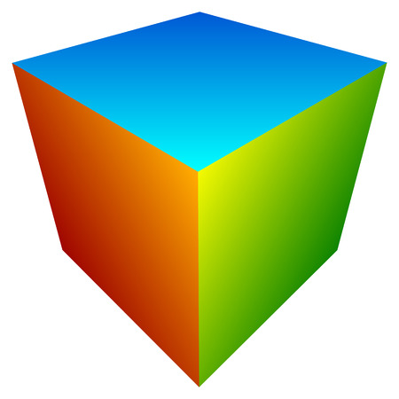 Colorful cube icon. Modern, bright generic icon