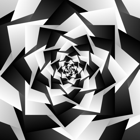epicentre: Rotating spiral grayscale geometric background - Abstract pattern
