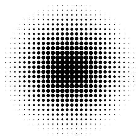 Halbton-Kreise, Rasterpunkte Muster. Monochrome Halbton-