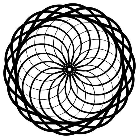 circulos concentricos: Circular geometric element, abstract motif, mandala isolated on white