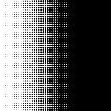 motif de demi-teinte verticale avec des points - Monochrome texture tramée Vecteurs