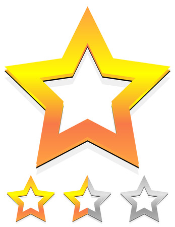 rating: Star icon for rating, ranking, quality concepts Illustration
