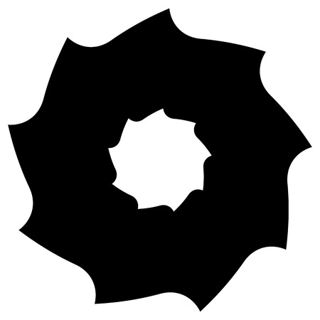 circular saw: Circular saw blade. Abstract shape  symbol  icon