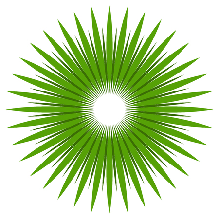 biosphere: Abstract shape with circular lines for nature concepts. Radial lines design element. Illustration