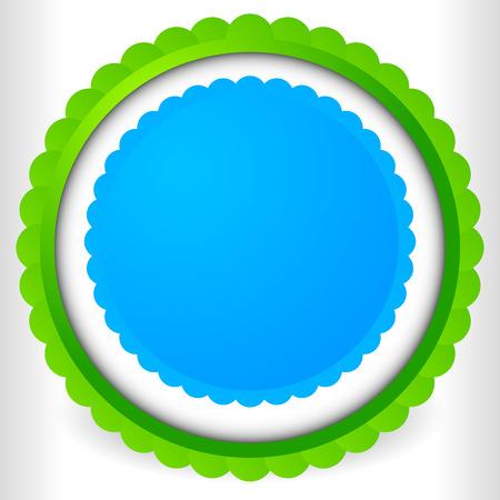 cockade: Blank badge, rosette, cockade icon. Award, prize shape