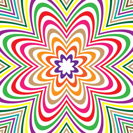 tense: Concentric lines with distortion. Radial lines, radiating pattern with deformation effect