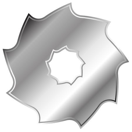 blade: Circular saw blade. Abstract shape  symbol  icon