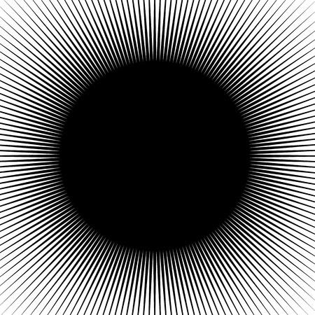 radius: Radial lines, rays, beams circular pattern. Sunburst, starburst with concentric irregular lines