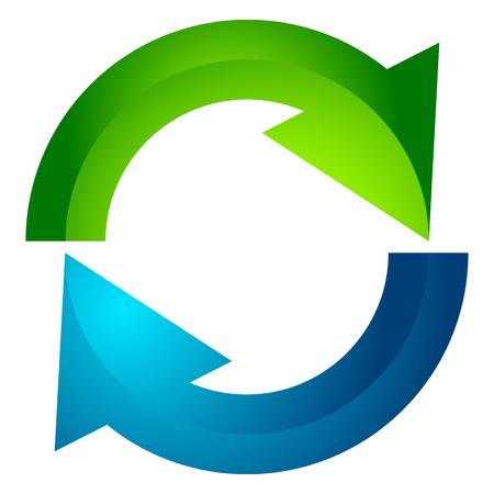 円形矢印、円形矢印アイコンです。回転、再起動、ツイスト、コンセプト アイコンをオンボタン