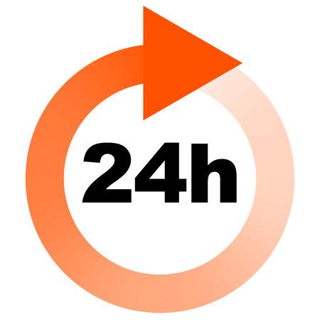 Turn around time (TAT) icon with circular clockwise arrow