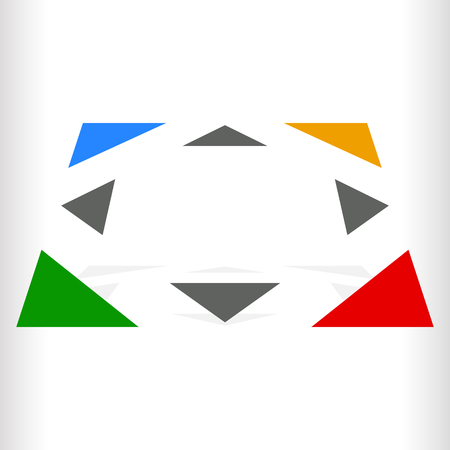 Multicolor geometric icon,  for generic of navigation, transportation related theme Illustration