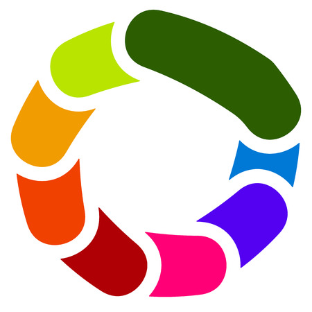 Circular generic symbol, icon - Rotated overlapping bars, rounded rectangles