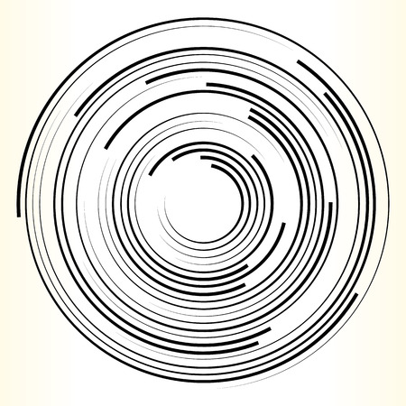 distortion: Geometric circle element. Abstract monochrome circle shape.