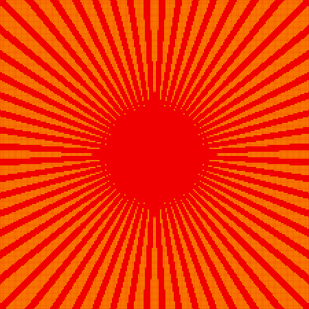 Rays, beams, starburst (sunburst) pattern. Converging lines abstract background. Ilustração