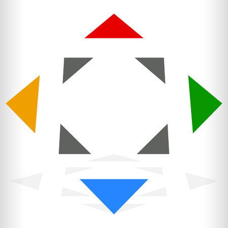 geocaching: Multicolor geometric icon,  for generic of navigation, transportation related theme Illustration