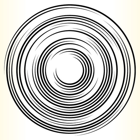 círculo elemento geométrico. Resumen de la forma del círculo en blanco y negro.