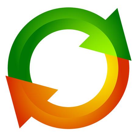Circular arrow, circle arrow icon. Rotation, restart, twist, turn concept icon / button  イラスト・ベクター素材
