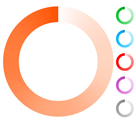 preloader: Fading circle preloader, progress indicator elements (6 colors)