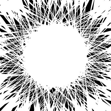 lignes chaotiques aléatoires qui fusionnent, se coupant au centre d'art abstrait illustration