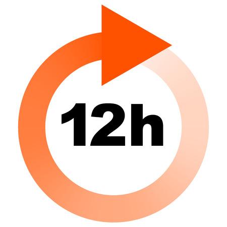 tat: Turn around time (TAT) icon with circular clockwise arrow
