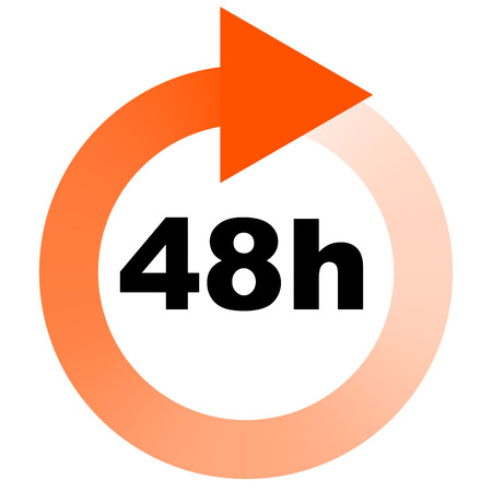 turnaround: Turn around time (TAT) icon with circular clockwise arrow