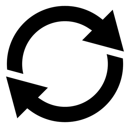 gyration: Circular arrow, circle arrow icon. Rotation, restart, twist, turn concept icon  button