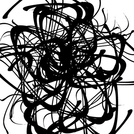wriggle: Chaotic random curved lines. Abstract artistic pattern, background