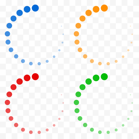buffer: Preloader, buffer shapes symbols. Fading transparent circles