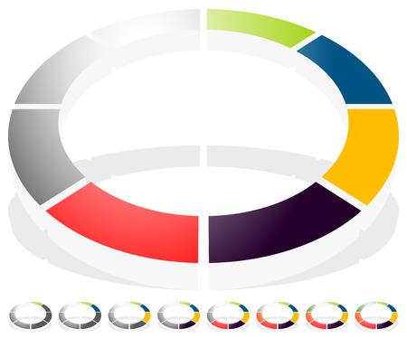 preloader circolare, il progresso indicatore di icona w / 8 passi. simbolo Buffer.