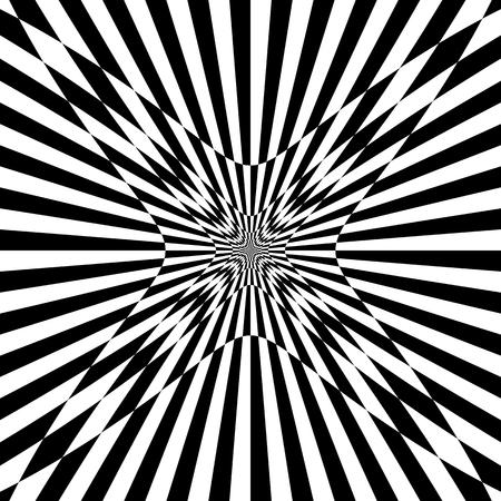 deformed: Checkered pattern with distortion effect. Deformed, irregular chessboard, checkerboard background.