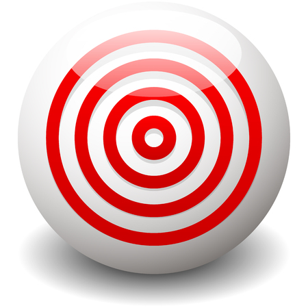 Red target, bullseye, accuracy, precision icon - Concentric circles Illustration