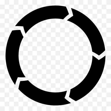 Segmentato freccia cerchio. icona della freccia circolare. Processo, progres, icona di rotazione. Archivio Fotografico - 67171534