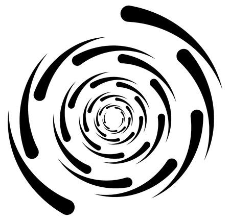 cíclico: elemento circular con líneas que irradian al azar. círculos radiales forma de espiral