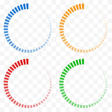 preloader: Preloader, buffer shapes symbols. Fading transparent circles