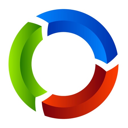 redo: Segmented circle arrow. Circular arrow icon. Process, progres, rotation icon. Illustration