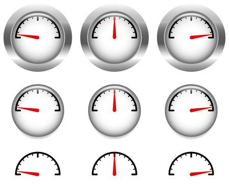 Generisches Lehren, Zifferblätter mit roten Uhrzeiger, Zeiger