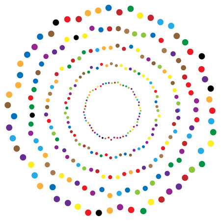 Random circles, dots abstract element, circular shape