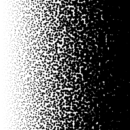 Random circles pattern. Halftone pattern, halftone gradient with random dots. Abstract monochrome pointillist, speckled background