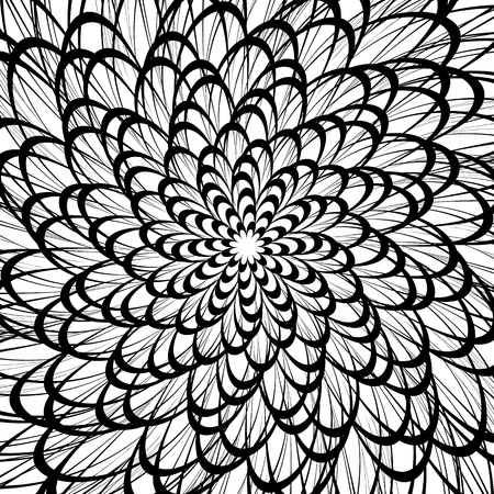 wriggle: Artistic geometric pattern, texture with random lines. Monochrome abstract background Illustration