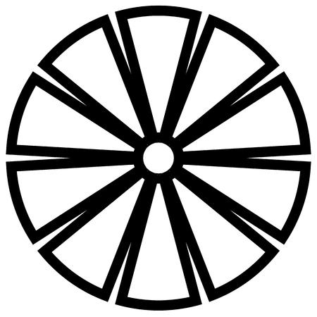 elemento cerchio geometrica fatta di rettangoli radianti. Forma astratta cerchio.